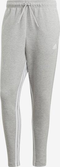 ADIDAS PERFORMANCE Hose in graumeliert / weiß: Frontalansicht