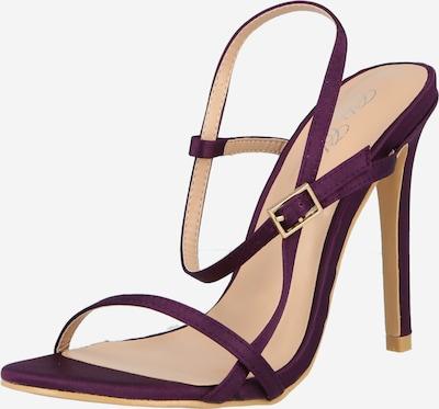 Sandale cu baretă Chi Chi London pe mov zmeură, Vizualizare produs