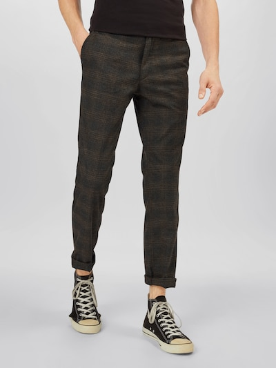 JACK & JONES Pantalon 'IROY WOLF' en marron / noisette, Vue avec modèle