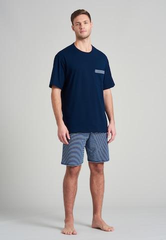 SCHIESSER Pajama short in Blue