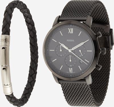 FOSSIL Uhr und Armband in schwarz, Produktansicht