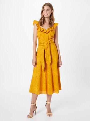 Little Mistress Kokteilové šaty - Žltá