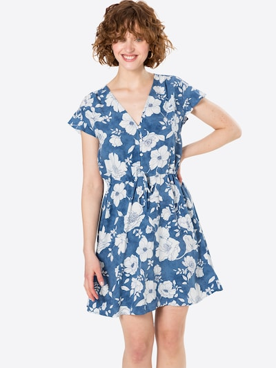 GAP Košeľové šaty - modrá / biela, Model/-ka