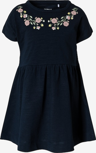 NAME IT Jurk 'HEDVIIG' in de kleur Navy / Lichtgeel / Pastelgroen / Rosa, Productweergave
