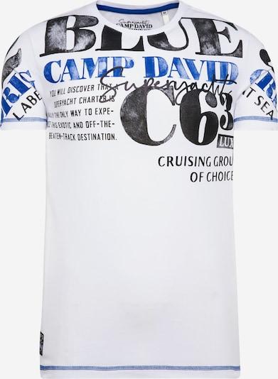 CAMP DAVID T-Shirt in blau / weiß, Produktansicht