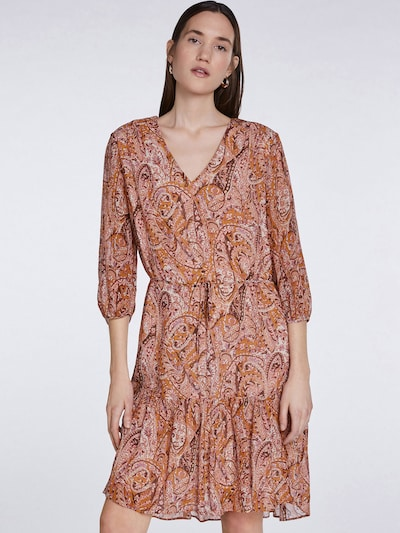 SET Kleid in orchidee / altrosa / burgunder / orangerot / weiß, Modelansicht