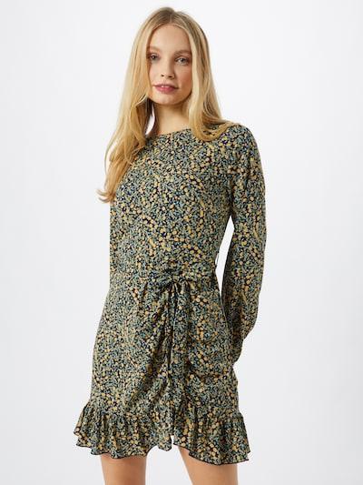 Rochie tip bluză Missguided pe verde iarbă / portocaliu deschis / negru, Vizualizare model