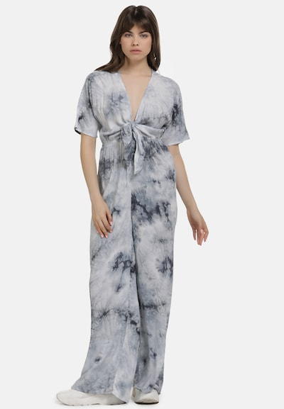 MYMO Jumpsuit in schwarzmeliert / weißmeliert, Modelansicht