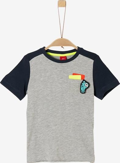 s.Oliver T-Shirt in enzian / grau / mischfarben, Produktansicht