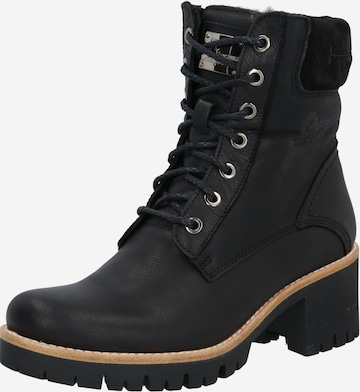 PANAMA JACK Lace-Up Ankle Boots 'Phoebe' in Black