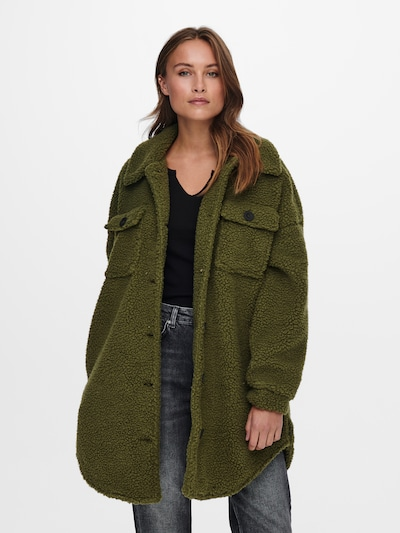 ONLY Mantel in dunkelgrün: Frontalansicht