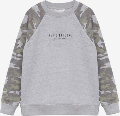 MANGO KIDS Sweatshirt 'Clark-I' in grau / dunkelgrau / khaki, Produktansicht