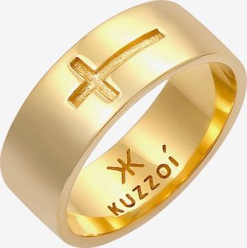 KUZZOI Ring Kreuz in Gold