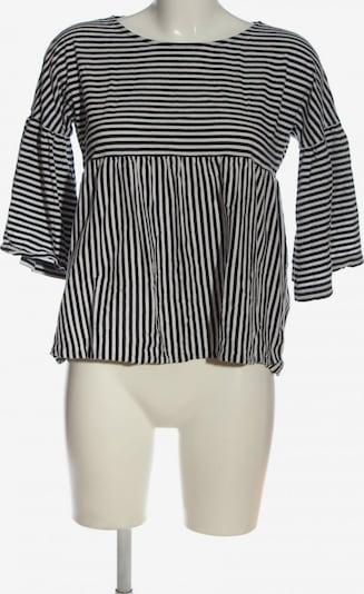 HESSNATUR Langarm-Bluse in L in schwarz / weiß, Produktansicht