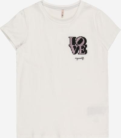 KIDS ONLY T-Shirt 'Kita' in pink / schwarz / weiß, Produktansicht