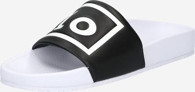 POLO RALPH LAUREN Badeschuh 'CAYSON' in schwarz / weiß, Produktansicht