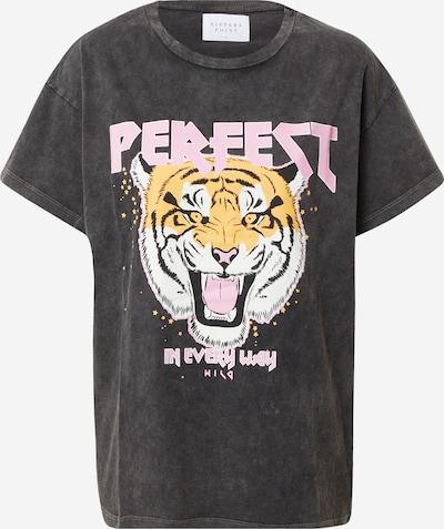 SISTERS POINT Shirt 'Paya-SS1' in de kleur Lichtbruin / Donkergrijs / Rosa / Zwart / Wit, Productweergave
