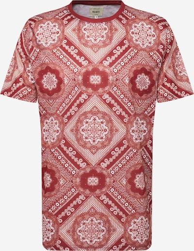 Redefined Rebel T-Shirt 'Fred' in pastellrot / weiß, Produktansicht