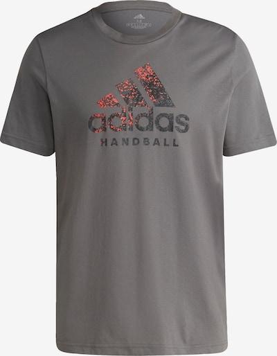 ADIDAS PERFORMANCE Functioneel shirt in de kleur Grijs / Rood / Zwart, Productweergave