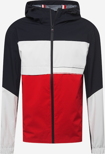 TOMMY HILFIGER Jacke in nachtblau / rot / weiß, Produktansicht