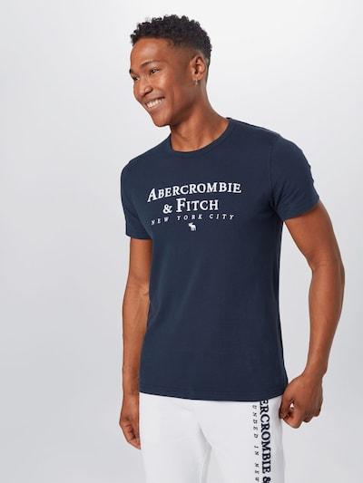 Abercrombie & Fitch Tričko - námornícka modrá / biela: Pohľad spredu