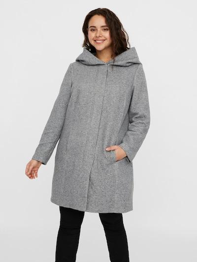 Vero Moda Curve Between-Seasons Coat in Light grey, View model