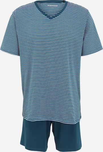 SCHIESSER Lyhyt pyjama värissä pastellinsininen / valkoinen, Tuotenäkymä