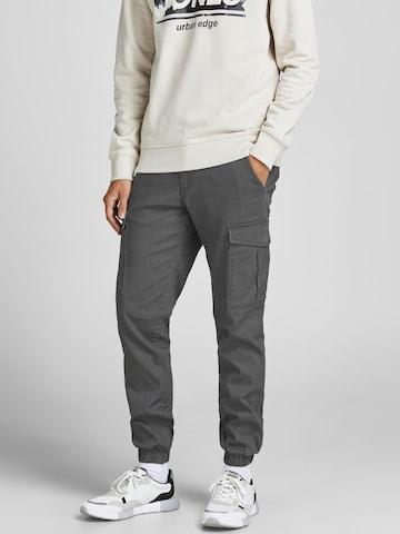 JACK & JONES Cargo trousers 'Marco' in Grey