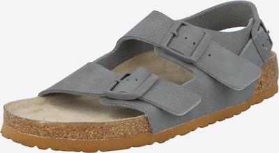 BIRKENSTOCK Sandále 'Milano' - sivá: Pohľad spredu