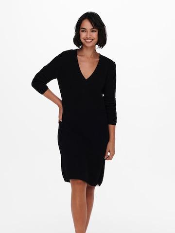 ONLY Gebreide jurk 'Melton' in Zwart