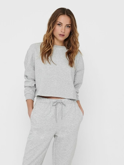 ONLY Sweatshirt 'Fave' in de kleur Lichtgrijs, Modelweergave