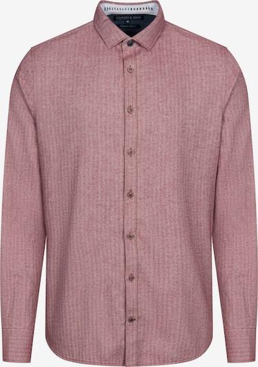 COLOURS & SONS Langarmhemd 'Herringbone' in rot, Produktansicht