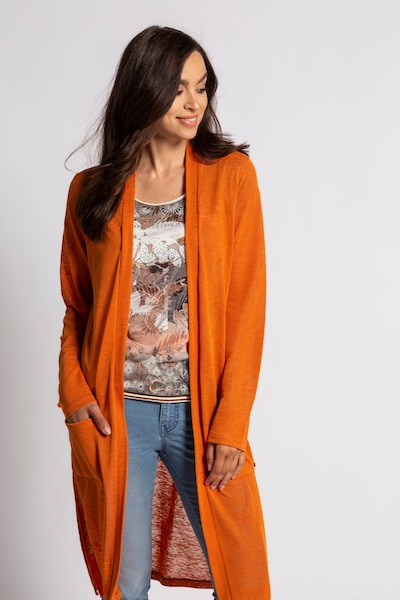 Gina Laura Cardigan in orange, Modelansicht