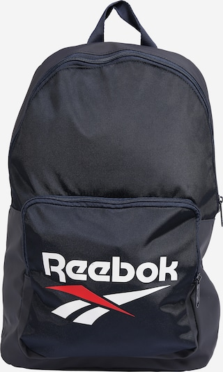 REEBOK Sports backpack in Navy / Red / White, Item view