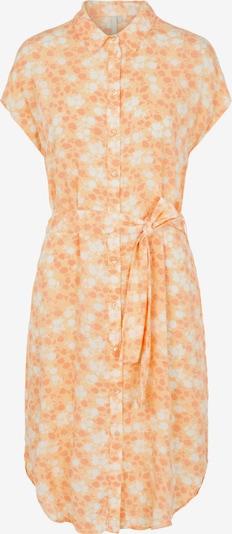 PIECES Kleid 'Nya' in pastellorange / dunkelorange / weiß, Produktansicht