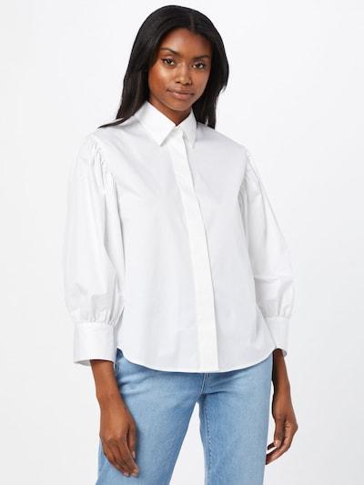 SEIDENSTICKER Bluse 'Schwarze Rose' in weiß, Modelansicht