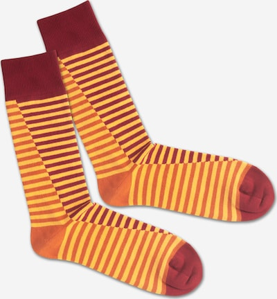 DillySocks Socken 'SS20-09 Double Lave Liner' in gelb / orange / rot, Produktansicht