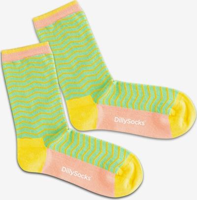 DillySocks Calcetines 'Salad Square' en amarillo / verde claro / naranja / rosa, Vista del producto
