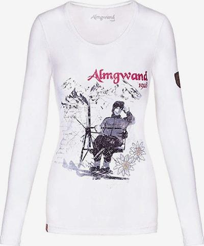 Almgwand Shirt in rot / schwarz / weiß, Produktansicht