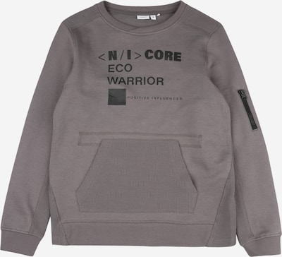 NAME IT Sweatshirt 'SAKKI' in de kleur Taupe / Zwart, Productweergave