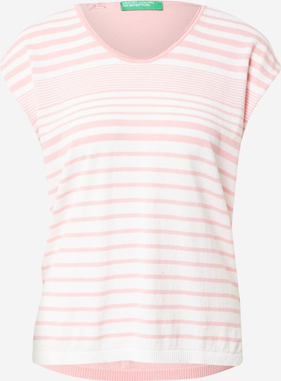 UNITED COLORS OF BENETTON Sweater in Pink / White, Item view