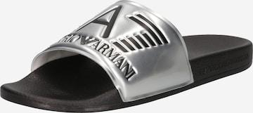 EA7 Emporio Armani Pantolette i silver