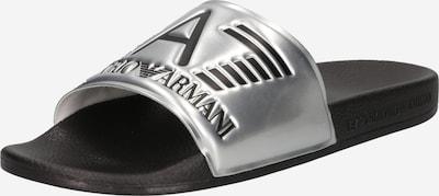 EA7 Emporio Armani Pantolette in schwarz / silber, Produktansicht