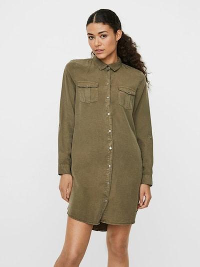 VERO MODA Košilové šaty - olivová, Model/ka