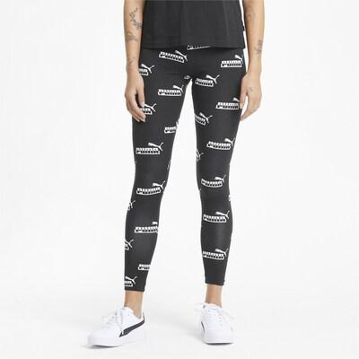 PUMA Leggings in schwarz / weiß, Modelansicht