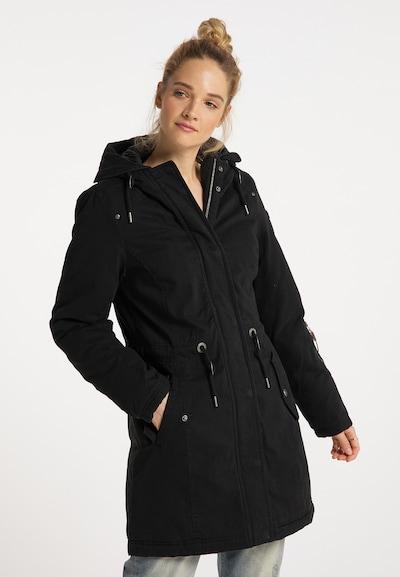 DreiMaster Vintage 'DreiMaster Vintage' Winterparka in schwarz, Modelansicht