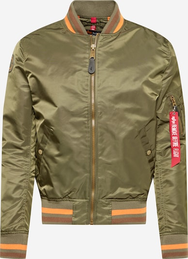 ALPHA INDUSTRIES Veste mi-saison 'MA-1 LW' en marron / olive / orange, Vue avec produit