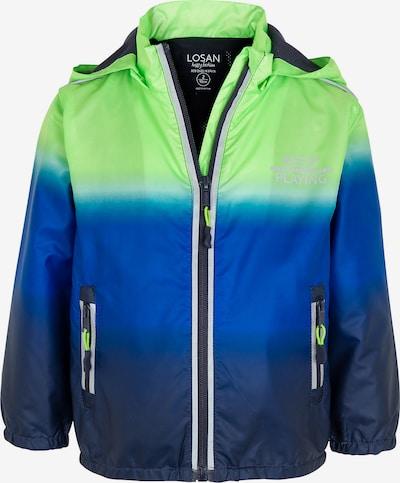 LOSAN Parka in blau / dunkelblau / neongrün / weiß, Produktansicht