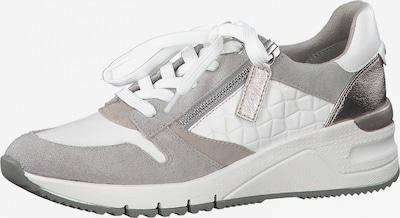 TAMARIS Sneaker in grau / taupe / silber / weiß, Produktansicht