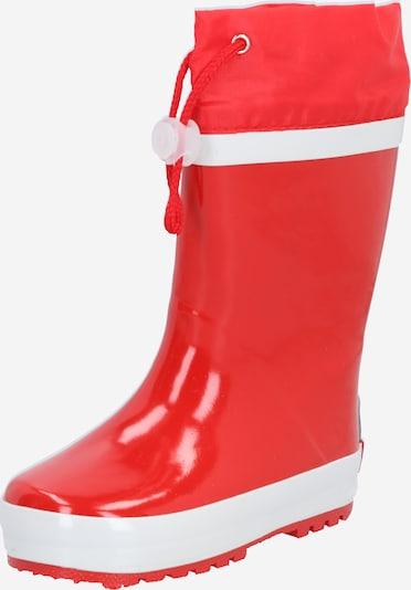 PLAYSHOES Gummistiefel in rot / weiß, Produktansicht